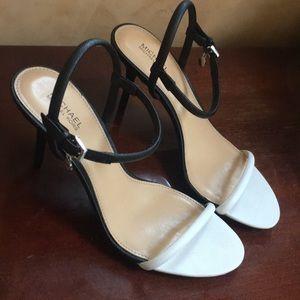 Michael Kors women's sandals heels black  white 7